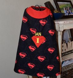 Handmade Personalized Super Hero Cape (perfect for pretend play, dress up, birthday party , or any themed party) by LittleDivasCreations on Etsy