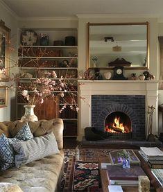 Interior Design Living Room, Living Room Designs, Living Spaces, Living Room Inspiration, Home Decor Inspiration, Cosy Home, Home And Deco, Decoration, Family Room