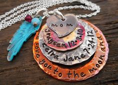 We love you to the Moon and Back Birthstone by OrganicRustCreation, $85.00