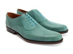 Incredible blue shoes.