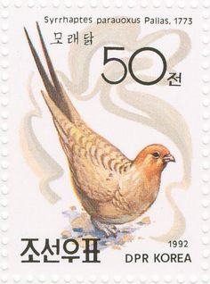 Pallas's Sandgrouse stamps - mainly images - gallery format