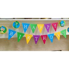 Inside Out Birthday Banner, Happy Birthday Banner by LittleRedBanner on Etsy