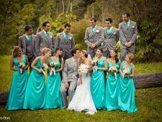 Decoración de boda inspirada en el azul turquesa del mar caribe