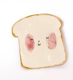 toast plate by charlotte mei ceramics | notonthehighstreet.com