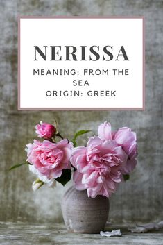 Baby Girl Name: Nerissa. | Meaning: From the Sea. | Origin: Greek.