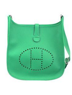 Hermes Bambou Clemence Leather Evelyne III GM Shoulder Bag