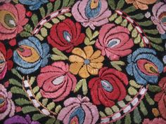 1930's Hungarian Matyo Embroidered Doilie