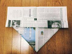 私のお気に入り。新聞紙で作るゴミ箱とマチありの袋 | かたづけとモノづきあい Envelopes, Diy And Crafts, Paper Crafts, Origami Box, Reuse Recycle, Country Decor, Household, Tips, How To Make