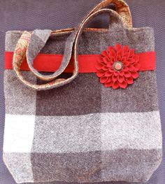 Felted Wool Tote Bag by Alfred Woolens
