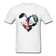 Amazon com Space Skull Heart TeeBack 2016 Men 39 s T Shirts Clothing