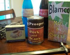 Fallout 3 Food Lables: This Instructable will briefly go over the process I used to make these food Items from Fallout Fallout Cosplay, Fallout 3, Fallout 4 Weapons, Fallout Theme, Fallout Props, Fallout New Vegas, Bioshock Cosplay, Fallout Costume, Fallout Vault