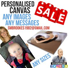 Personalised ✅ Canvas 👨‍👩‍👧  Any Images 📸 Any Messages 📝 FREE DELIVERY 📦  📧 Smbrookes1982@gmail.com Send Us Any Queries 👍 Great #Gifts 🎁