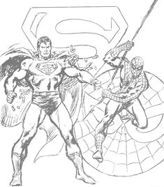 John Buscema Pencils - Superman and Spider-Man.