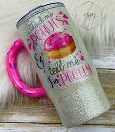 Excited to share this item from my #etsy shop: Donut tumbler/donut cup/coffee/gift for her/stainless steel Glitter Tumblr, Star Donuts, Deco Mesh Crafts, Tumblr Cup, Steel Gifts, Coffee Gifts, Custom Tumblers, Epoxy, Gifts For Her