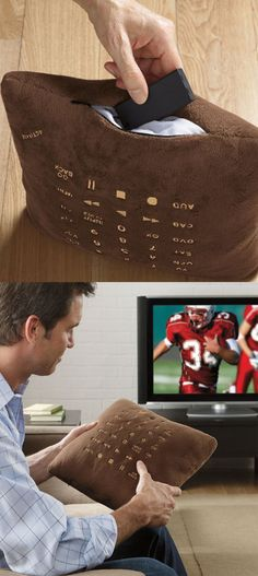 Control your TV with this pillow remote control!