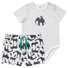 Baby Jungle Print Bodysuit & Short Set