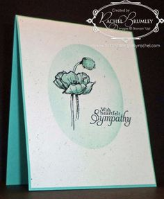 SU Simply Sketched sympathy card