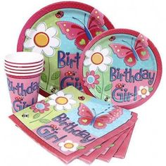 Ladybug and butterflies party set.