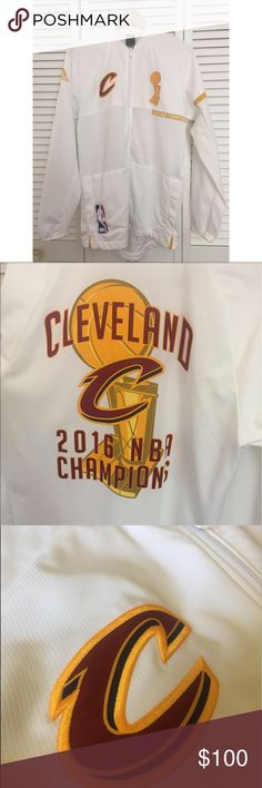 Cleveland Cavaliers 2016 Championship Jacket Limited Edition // this is an officially licensed adidas and cavs jacket that was worn opening night in the 2016 season. The players wore this jacket during the ring ceremony. Perfect condition, no stains, only worn once. Offers accepted. Jackets & Coats