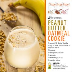 Peanut Butter Oatmeal Cookie #310Shake