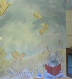 lise et thérèse; décors; peintures; chambre d'enfant; origami, doudou