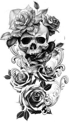 50 motifs de tatouage floral pour femmes 2019 - Page 19 sur 50 - Flower Tattoo Designs Skull Tattoo Flowers, Skull Rose Tattoos, Flower Tattoos, Body Art Tattoos, Cool Tattoos, Skull Sleeve Tattoos, Skull Thigh Tattoos, Female Tattoos, Arm Tattoos Aztec