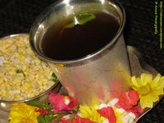 Panakam is a refreshing drink made from jaggery, pepper, and dried ginger. A great summer cooler as well.