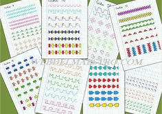 Caligrafía: Material de refuerzo (I) - Web del maestro Symmetry Worksheets, Fine Motor Activities For Kids, Calligraphy Tutorial, Preschool Writing, Caligraphy, Periodic Table, Bullet Journal, Lettering, Learning