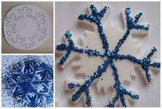 Flocon de neige avec un emballage en polystyrène. 14 Façons géniales de réutiliser les emballages styromousse