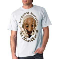 The very real Munchausen T-shirt with the author's pictures of Vladimir Shvayukov. For adult boys and girls. Boys, Girls, Boy Or Girl, Digital Prints, Photo And Video, Stylish, Drawings, Illustration, Mens Tops
