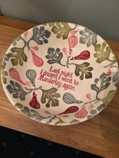 Personalised Pink Figs Large Dish 2016