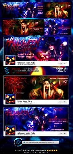 Thriller Halloween Night FB Timeline Cover