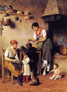 Eugene von Blaas o de Blaas nació en Albano (Roma) de padres austríacos. Fue hijo y discípulo del pintor vienés Karl von Blaas, establecido en Italia y especializado en la gran pintura historica