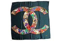 Chanel Silk Jewel Logo Scarf on OneKingsLane.com
