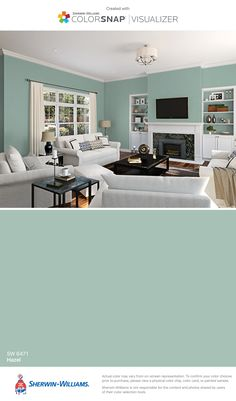 I found this color with ColorSnap® Visualizer for iPhone by Sherwin-Williams: Hazel (SW 6471).