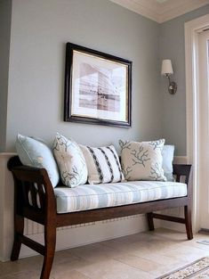 20 Awesome Entryway Bench Ideas To Apply at Your House . 20 Awesome Entryway Bench Ideas To Apply at Your House . Modern Entryway, Entryway Decor, Entryway Ideas, Living Room Bench, Living Room Decor, Wainscoting Wall, Wooden Sofa Designs, Entry Bench, Door Bench