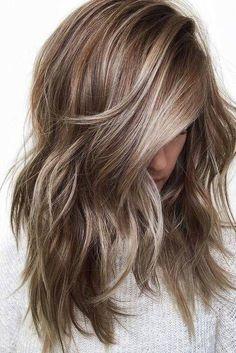 Ash Blonde Highlights on Brunette