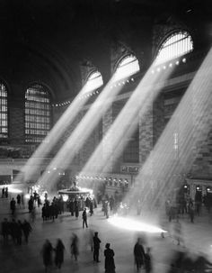 Unknown photographer: The vaulted room of Grand Central Terminal, 1935-1941.  From the WPA Writers Project.