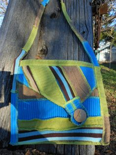 Recycled Sweater Envelope Bag Purse by SewWonderifical on Etsy, $45.00