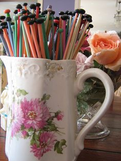 knitting needle's- by oldflowers4me, via Flickr