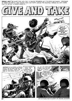 Century Danny Boy: Original Art Stories: The War Time Russ Heath Comic Book Artists, Comic Book Characters, Comic Artist, Comic Books Art, War Comics, Horror Comics, Comic Book Panels, Comic Book Covers, Greg Capullo