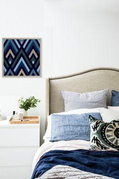 poster Pontais Azul geometricos