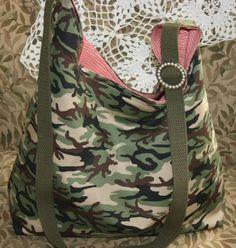 Camo Green Tote Shoulder Cross Body Bag Purse jsuey123 #Handmade #TotesShoppers