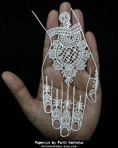 Papercut - Heena - Papercutting - Mehandi by ParthKothekar.deviantart.com on @DeviantArt