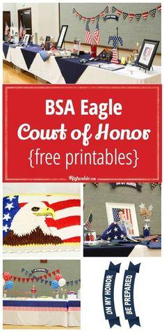 Plan a BSA Eagle Court of Honor includes {free printables} via @tipjunkie