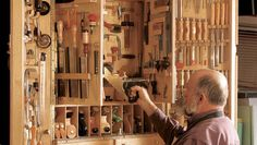 Attractive design stores all your tools in a small space