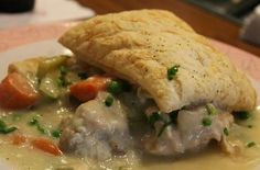 Grandmas Chicken Pot Pie Recipe served at Fifties Prime Time Cafe in Hollywood Studios at Disney World