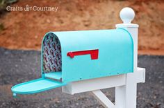 Coastal DIY mailbox makeover this is a really good idea :-) im going to try it :-) :-)