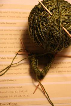 My Latest Knitting Project--Socks