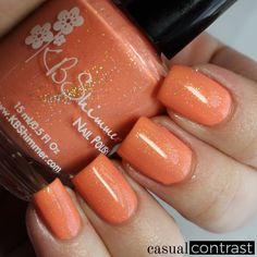 KBShimmer Spring 2016 and Mega Flame Collections: Swatches & Review! • Casual Contrast #orange polish